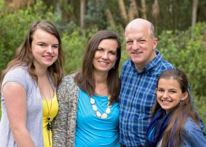 Pearce Church partners JR and Becky Crouse and family, Ecuador